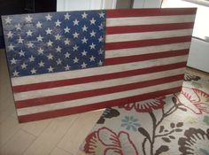 Distressed American Flag wall decorlight by ATouchofChic on Etsy, $95.00
