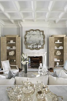Living Room Neutrals White by Yawn Design
