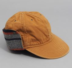 THE HILL-SIDE: Cold Weather Deck Cap, Selvedge Brown Twil