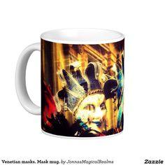 Venetian masks. Mask mug. Classic White Coffee Mug