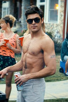 Zac Efron filming Neighbors. He should be forced to be shirtless in all of his roles all of the time.