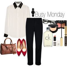 """busy monday"" by twentyonexoxo on Polyvore"