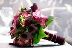 wine colored bridal bouquets   is the bouquet i am getting for my wedding where my colors are wine ...