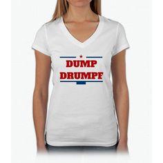 Dump Drumpf Womens V-Neck T-Shirt
