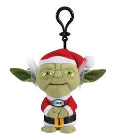 Look at this #zulilyfind! Santa Yoda Plush Talking Key Chain #zulilyfinds