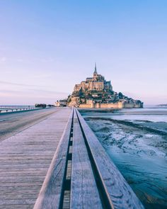 beautifuldestinationsRoad to Mount Saint-Michel ✨ (: @mary_quincy)
