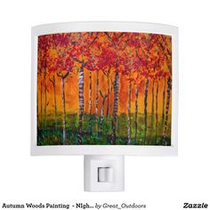 Autumn Woods Painting  - NIght Light