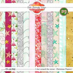 Just around the corner {Christmas Papers} by Little Butterfly Wings