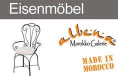 Handgeschmiedete Stühle & Hocker aus Marokko. www.albena-shop.de