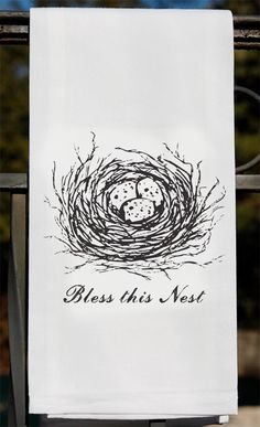 Two Tea Towels BLESS THIS NEST For Kitchen or Bar - Cotton Flour Sack Towel on Etsy, $18.00