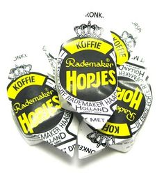 "Hopjes coffee candy is the ultimate ""old-time"" candy. These Dutch sweets were invented in the century and are a mix of coffee and caramel flavors. All the flavor, none of the caffeine! Coffee Candy, Coffee Gifts, Coffee Drinks, Typical Dutch Food, Candy Crush Saga, Candied Nuts, Dutch Recipes, Coffee Tasting, Nostalgia"