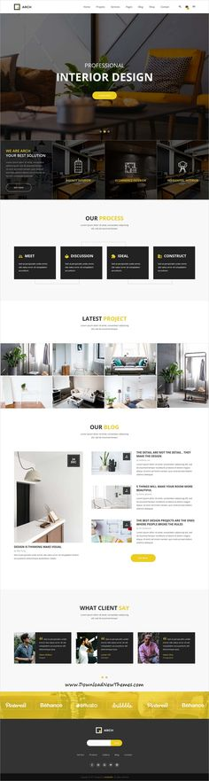 Arch Decor is clean and modern design 6in1 responsive #bootstrap HTML #template for #Interior design, #architecture and building business website to live preview & download click on image or Visit