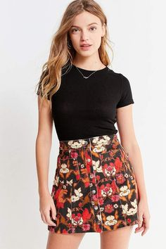 Shop BDG Uncut Corduroy Button-Front Skirt at Urban Outfitters today. We carry all the latest styles, colors and brands for you to choose from right here. Button Front Skirt, Pants For Women, Clothes For Women, Dress Me Up, Corduroy, Trendy Outfits, Urban Outfitters, Short Dresses, Mini Skirts