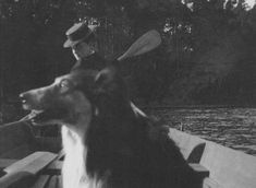 Alix in a boat with a collie. Is well known that Nicholas bred collies and was very proud of them. Could this collie be one of their sweethearts?