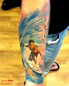 surfer-tattoo by radu-rasu
