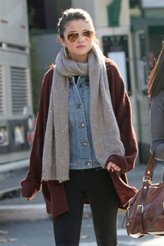 denim and knit ..love the colors
