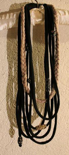 Silvia's necklaces, necklace/collana in fettuccia di cotone.