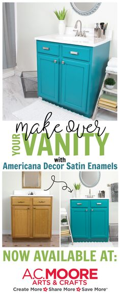 Bathroom Vanity Satin Enamel Transformation Americana Decor® Satin Enamels™