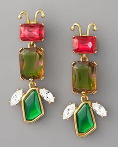 Svetlana's Closet - Oscar de la Renta Crystal Insect Clip Earrings, $225.00 (http://www.svetlanascloset.com/oscar-de-la-renta-crystal-insect-clip-earrings/)