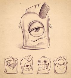 Cute monsters Icon Sketche Beautiful Collection of Icon Sketches for Inspiration Cartoon Kunst, Cartoon Drawings, Animal Drawings, Cartoon Art, Cute Drawings, Drawing Sketches, Drawing Animals, Drawing Faces, Drawing Tips