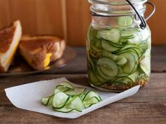 Bobby's Quick Sweet Pickles are simple to make: just add the sliced cucumbers to a jar and pour the brine over. Cover and refrigerate for at least 4 hours, preferably overnight.