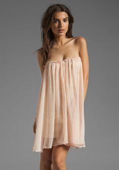 BLAQUE LABEL Strapless Mini Dress in Light Pink