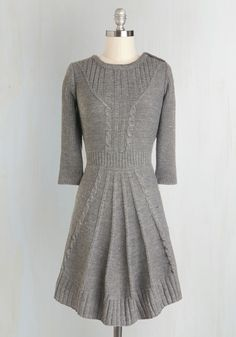 Warm Cider Dress, @ModCloth | perfect with scarf, leggings, and boots.