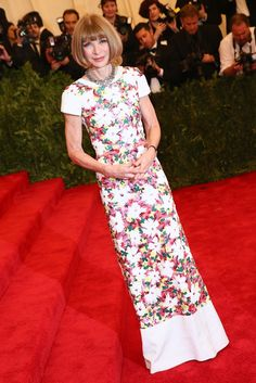 Anna Wintour at the Met Gala [Photo by Evan Falk]