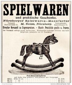Original-Werbung/ Anzeige 1897 - NÜRNBERGER SPIELWAREN-MANUFACTUR REISS…