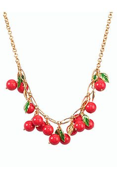 Cherry Cluster Necklace - Talbots