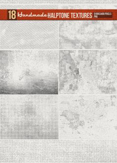 18 Handmade Halftone Textures by creativeartx2 on Creative Market