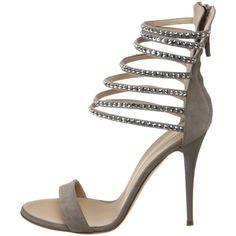 Strappy Sandals by Giuseppe Zanotti   Sandals And Flip Flops #giuseppezanottiheelssilver