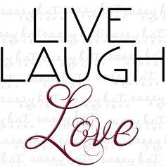 "INSTANT DOWNLOAD ~ Live, Laugh Love Printable 12"" x 12"" Digital Image JPEG Wall Decor by SassyHatCF on Etsy"