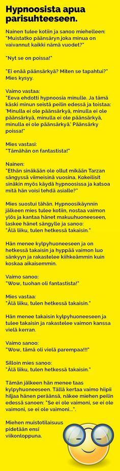 Vitsit: Hypnoosista apua parisuhteeseen - Kohokohta.com