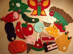 The Very Hungry Caterpillar Felt Set. Love this idea.