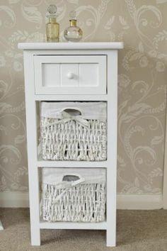 Beautiful Wicker Bathroom Wall Cabinet
