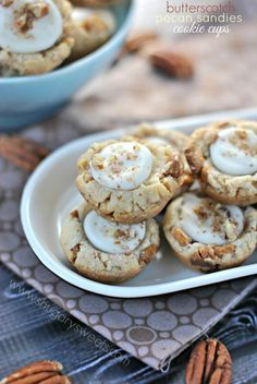 Butterscotch Pecan Sandies cookie cups