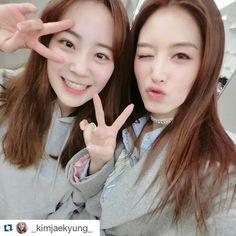 "33.4k Likes, 64 Comments - 허영지 youngji Hur (@young_g_hur) on Instagram: ""#Repost @_kimjaekyung_ with @repostapp ・・・ 자주놀러와그대😆 언니가 맛있는거 사쥬껭😍 #jaekyung #영지영지"""