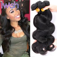 Iwish Brazilian Virgin Hair Body Wave 4Pcs Wavy Virgin Brazilian Hair Brazilian Body Wave Human Hair Brazilian Hair Weave Bundle * Clicking on the VISIT button will lead you to find similar product