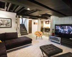Unfinished Basement Ceiling Design Ideas, Pictures, Remodel And Decor