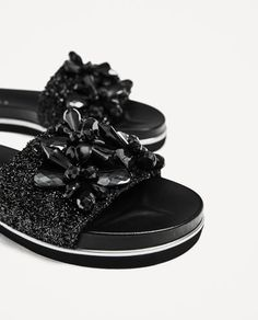 SLIDES WITH BEADS from Zara