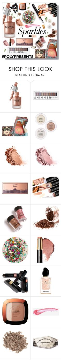 """#PolyPresents: Sparkly Beauty"" by eldinreham on Polyvore featuring beauty, Forever 21, Benefit, City Color, By Terry, Deborah Lippmann, Bobbi Brown Cosmetics, Giorgio Armani, L'Oréal Paris and Illamasqua"