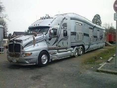 Cars Discover Okay so technically this one does not qualify as an RV but its not like this is the first luxury RV trailer we have seen on this list. Rv Motorhomes, Luxury Motorhomes, Bus Camper, Campers, Custom Big Rigs, Custom Trucks, Big Rig Trucks, Cool Trucks, Semi Trucks