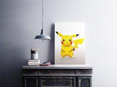 PIKACHU INSTANT DOWNLOAD  Original Art High resolution digital art. On Etsy