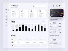 Wireframe Design, Ui Ux Design, Branding Design, Dashboard Ui, Dashboard Design, Financial Dashboard, Business Web Design, Creative Business, Portal Design