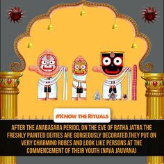Of all the festivals of Lord Jagannatha, ‪#‎RathaJatra‬ is the most significant and enchanting annual event. This year its even more special since it would be the first Ratha Jatra of the new deities of Jagannath Temple ,Puri after ‪#‎Nabakalebara‬.