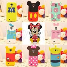 3D Disney Minnie Cartoon Silicone Case Cover For Samsung Galaxy S4 Mini & S4