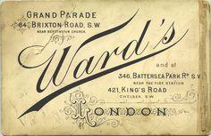 Vintage Photo Backing / London
