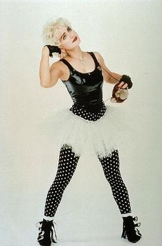 Madonna wearing polka dots in Who's That Girl (1987)