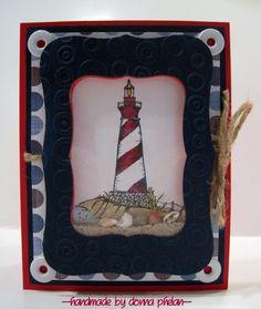 Lighthouse Shaker Card
